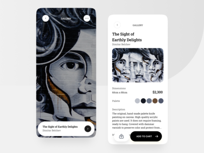 Art Marketplace App 2020(이미지 포함) 앱 디자인, 디자인