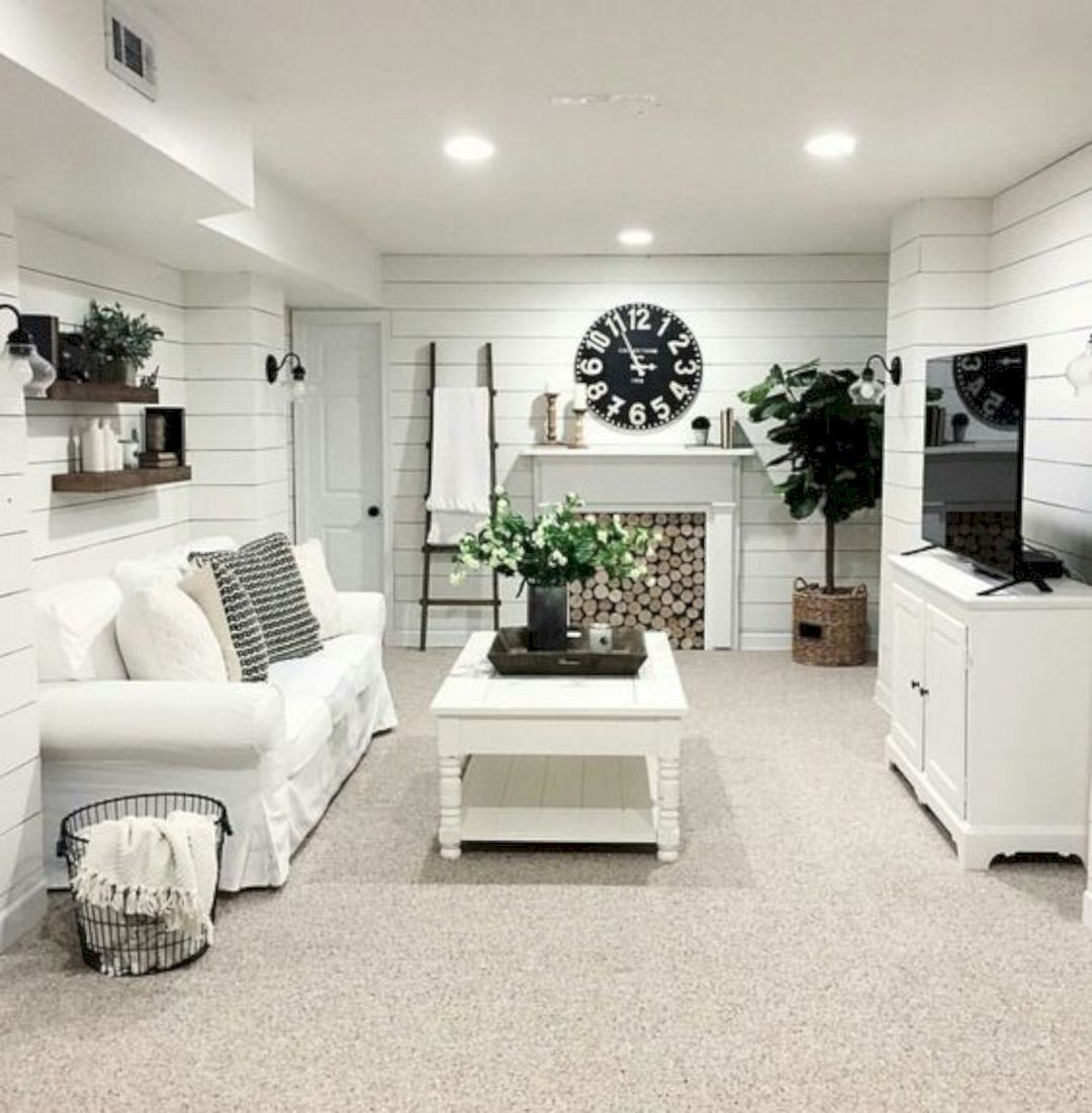 16 Decorating Ideas To Makeover Your Basement Basement Living Rooms Small Basement Apartments Small Finished Basements