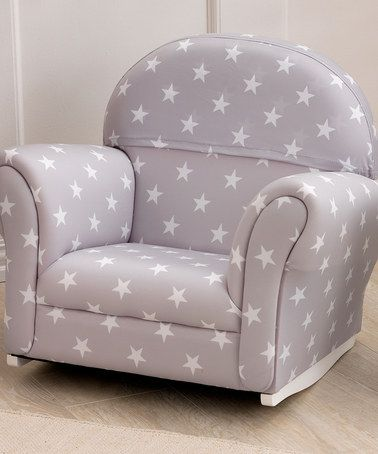 Kids Upholstered Rocking Chair Office Chairs For Sale Look What I Found On Zulily Gray Stars Rocker Zulilyfinds
