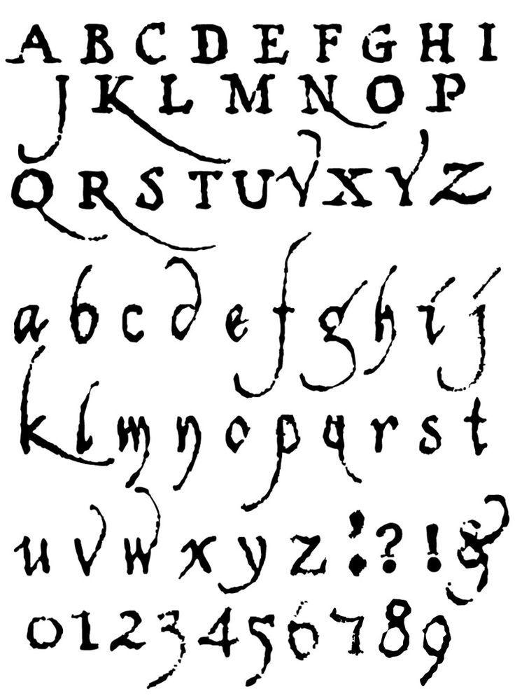 Verschiedene Schriftstile Alphabet Ausgefallene Schriftarten
