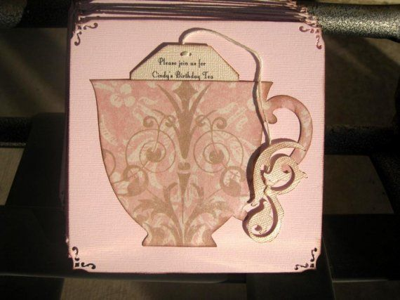 Tea Party Invite with different paper tea party Pinterest