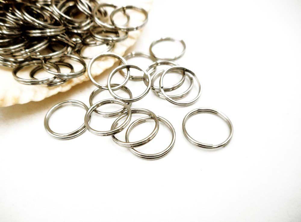 50 Stainless Steel Double Loop Split Open Jump Rings 12mm 12 12 With Images Open Jump Rings Jump Rings Jewelry Findings