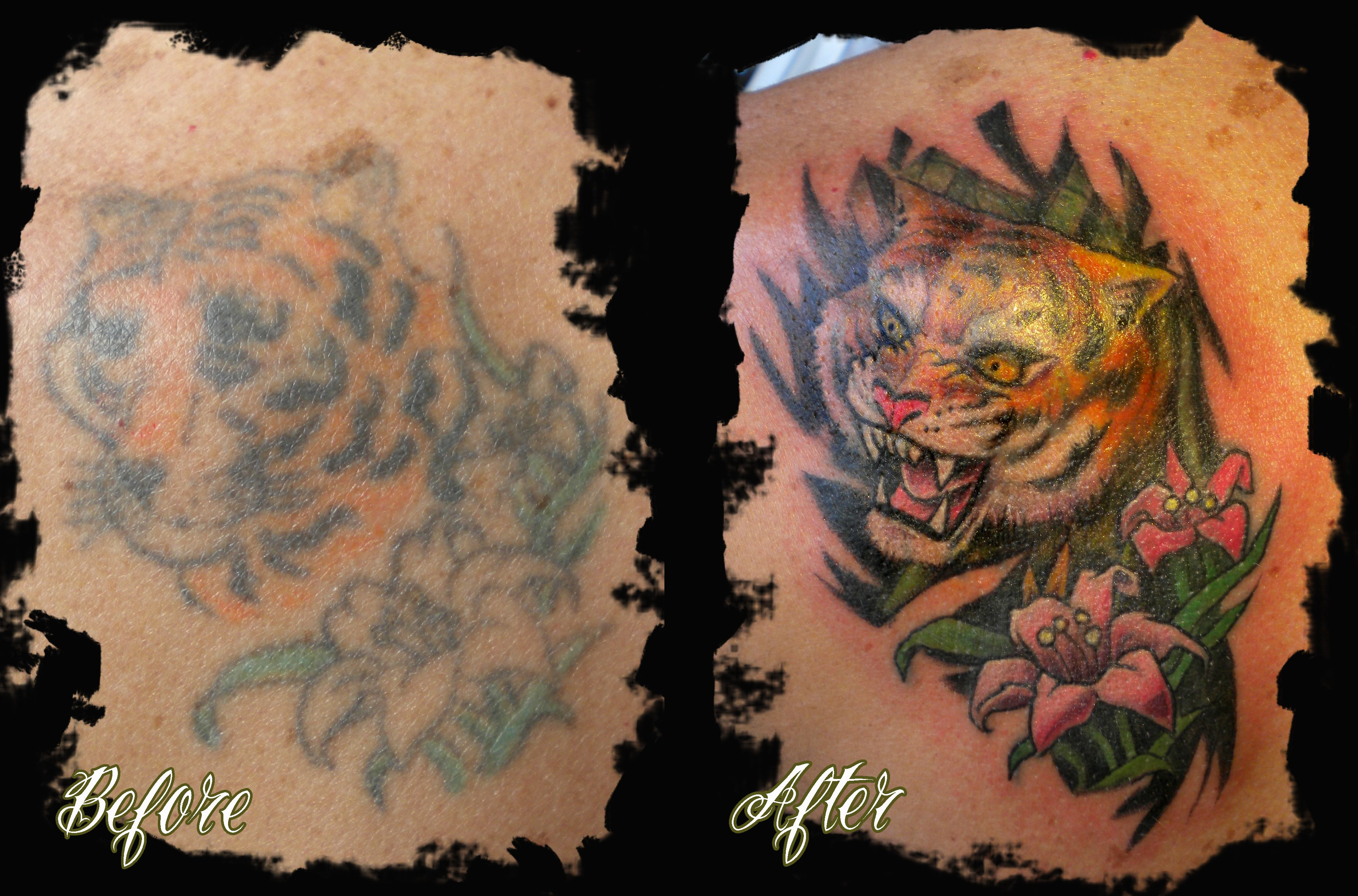 Best miami tattoo shop tiger cover up