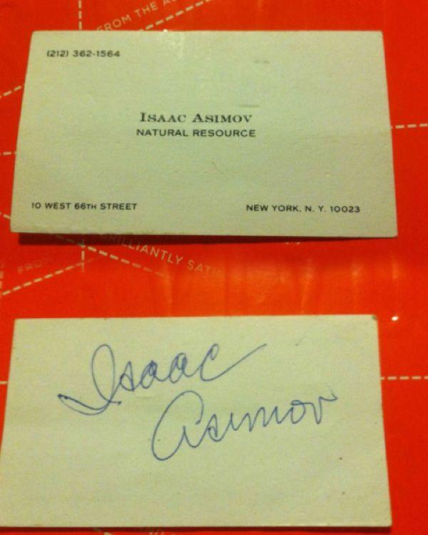 La tarjeta de presentación de Isaac Asimov.