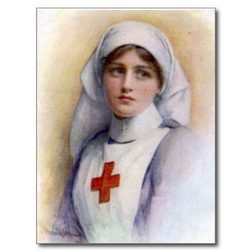 1916 Vintage Reproduction Nurse Postcard   Zazzle