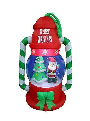Figurines 117413 Christmas Inflatable Lantern Lamp Santa Tree