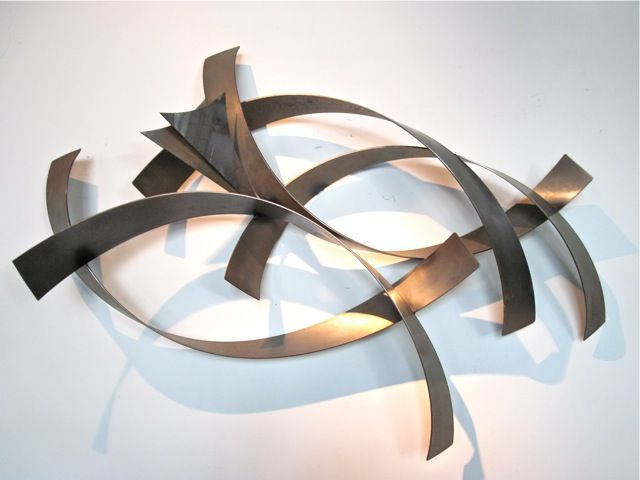 Metal Wall Sculpture metro modern curtis jere abstract metal wall sculpture - abstract