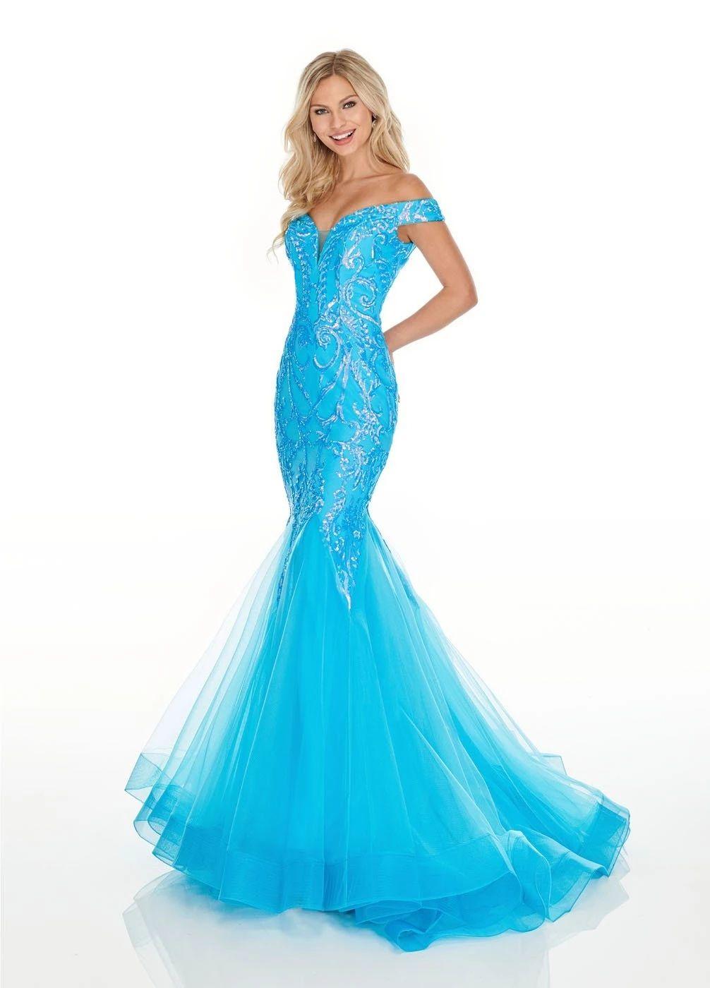 Rachel Allan 7199 Dress Neon Prom Dresses Off Shoulder Mermaid Dress Rachel Allan Dresses [ 1400 x 1006 Pixel ]