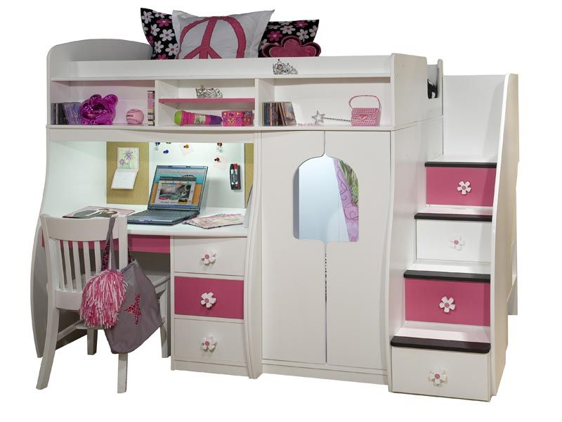 Pictures Of Loft Beds berg furniture play & study loft bed with stairs - 91-74 - loft