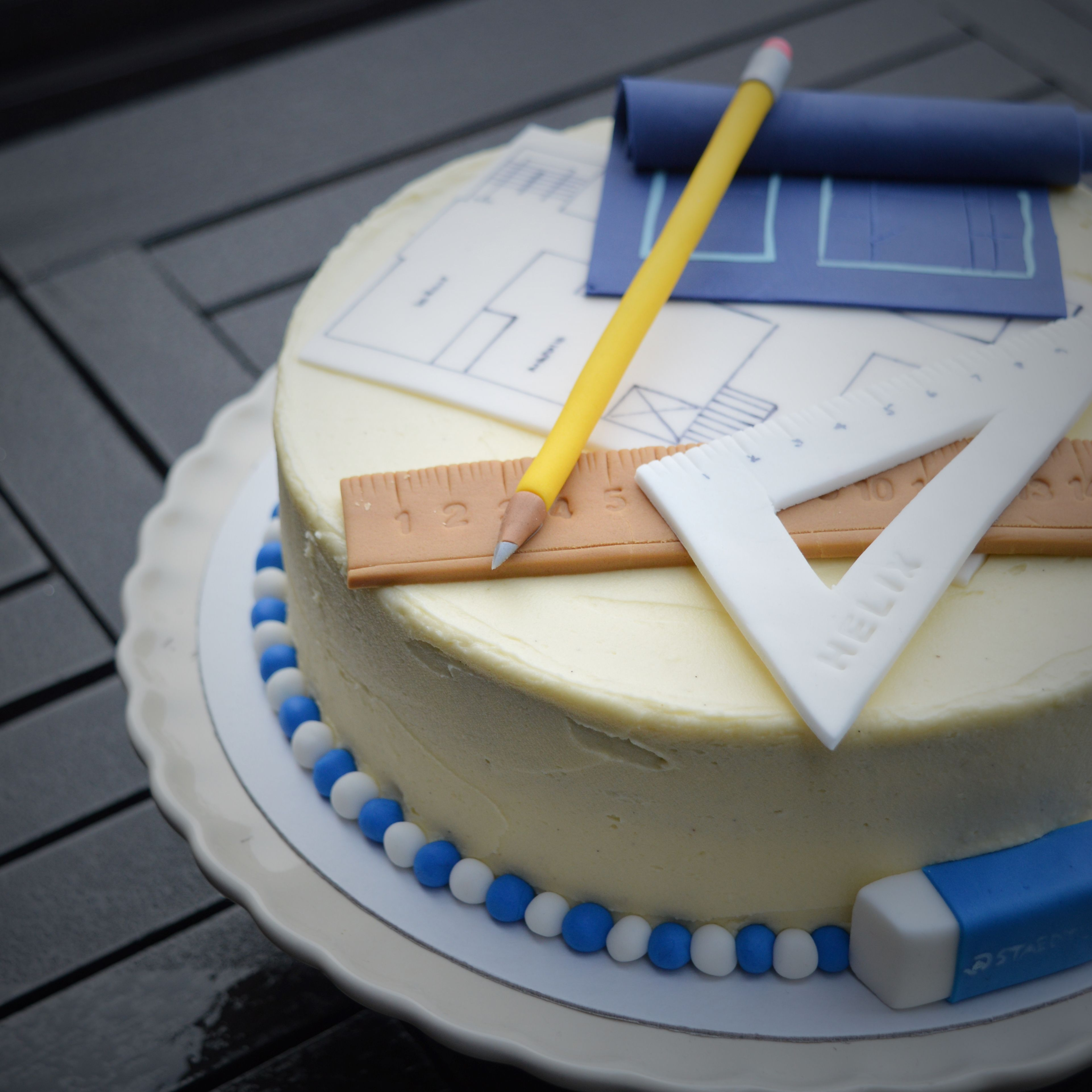 Birthday cake for an architect   Kingfisher Bakery ...