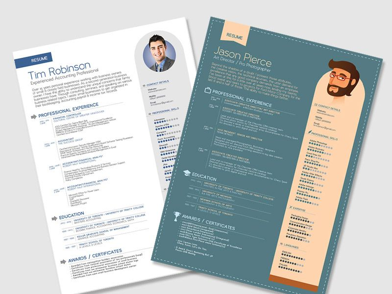 Indesign Resume Template Free Download from i.pinimg.com