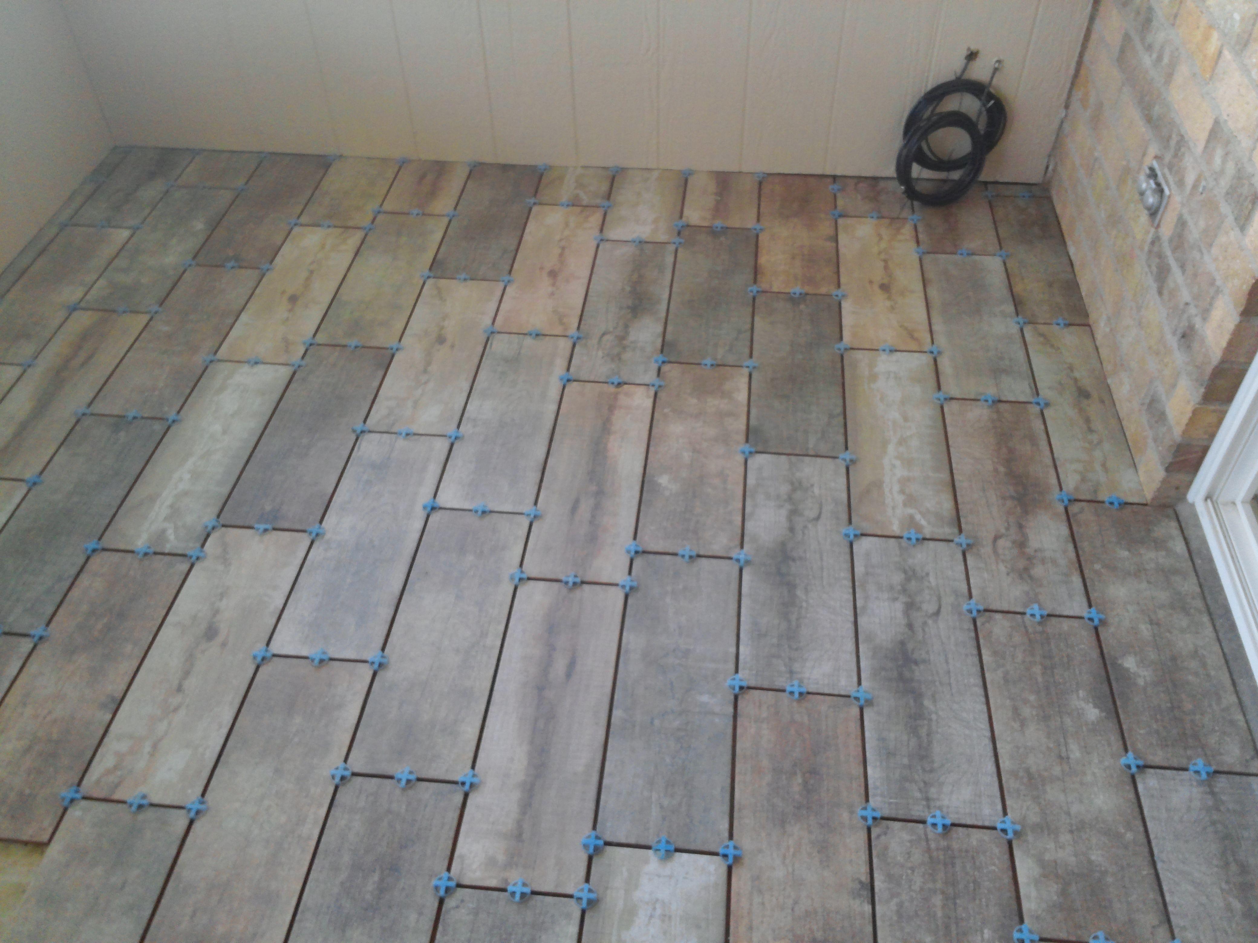 Barnwood Tile In Sun Room Custom Tile Work Pinterest