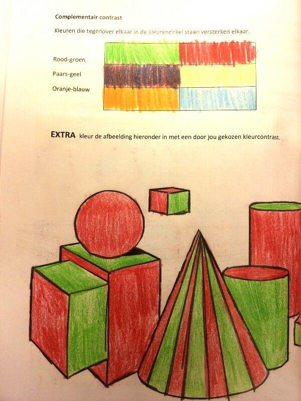 vb. bij blz 17 complementairekleur. Dank aan Melchior voor het voorbeeld.