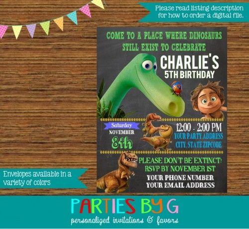 The good dinosaur birthday party invitations personalized stopboris Gallery