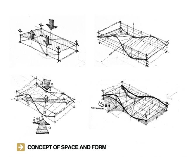 Freeform structure concept of space and form khoa vu for Form space and design architects