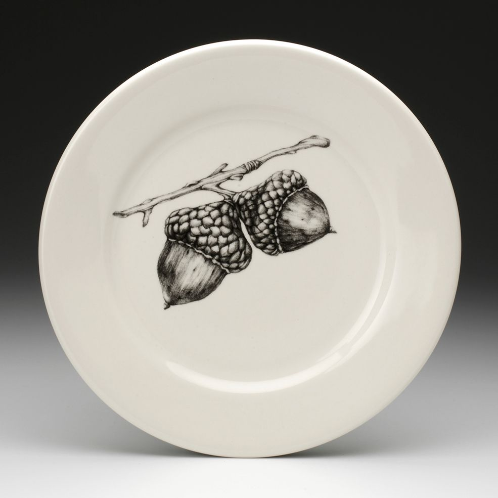 Laura Zindel Design - Dinner Plate: Double Acorn, $50.00 (http://www.laurazindel.com/dinner-plate-double-acorn/)