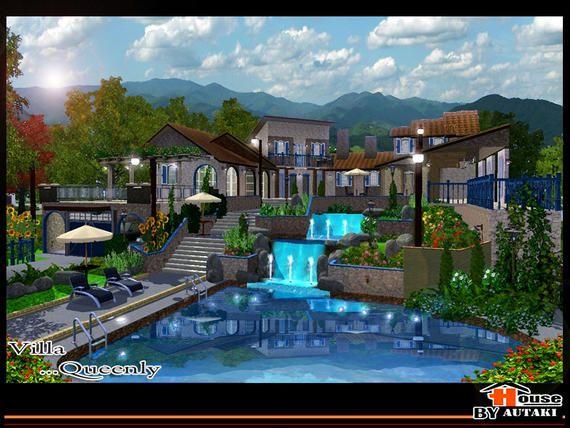 Autaki S Villa Queenly Sims House Sims Sims 4 Houses