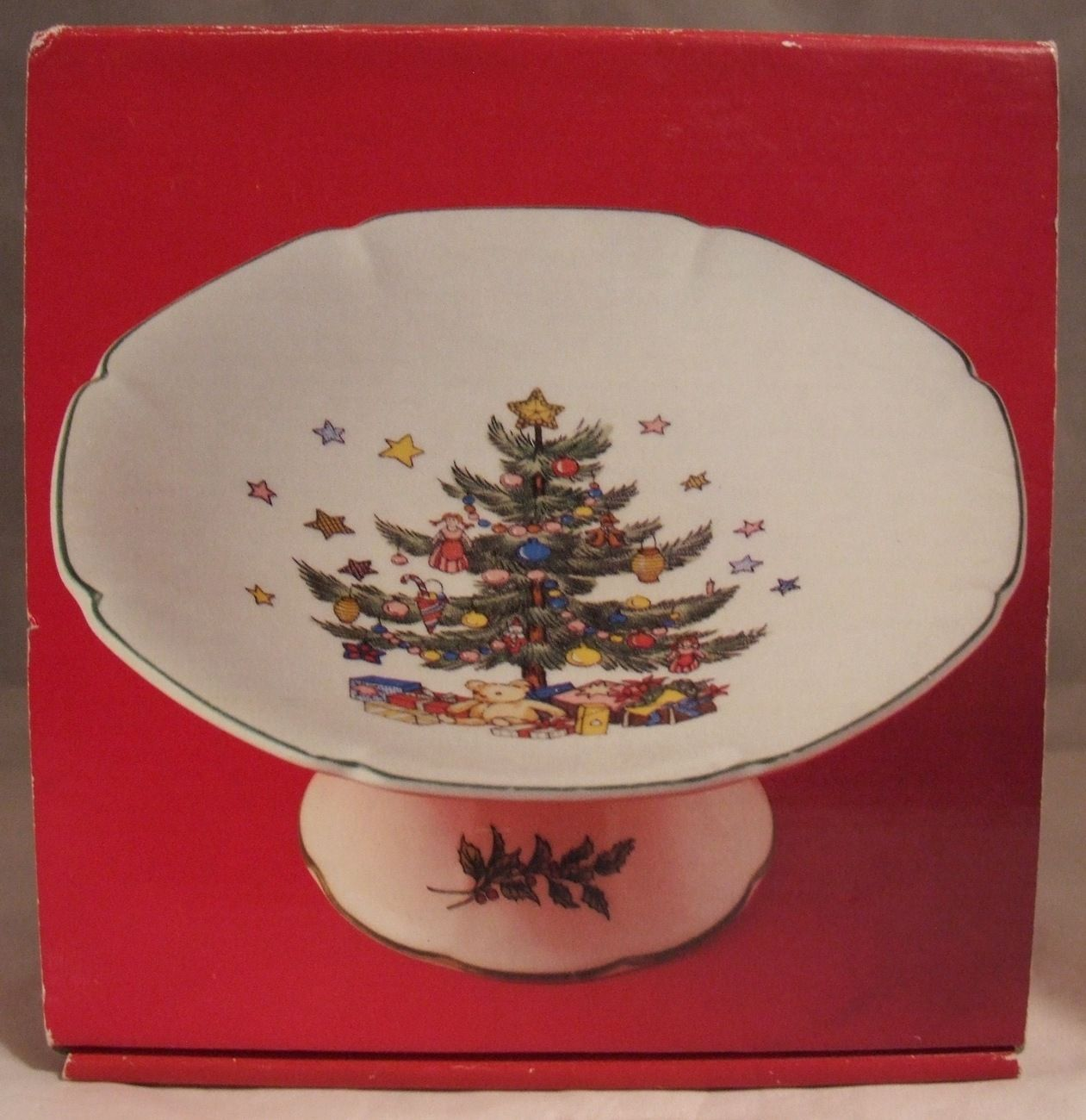 Nikko Japan Compote Dish 6 Inch Christmastime Happy Holiday ...