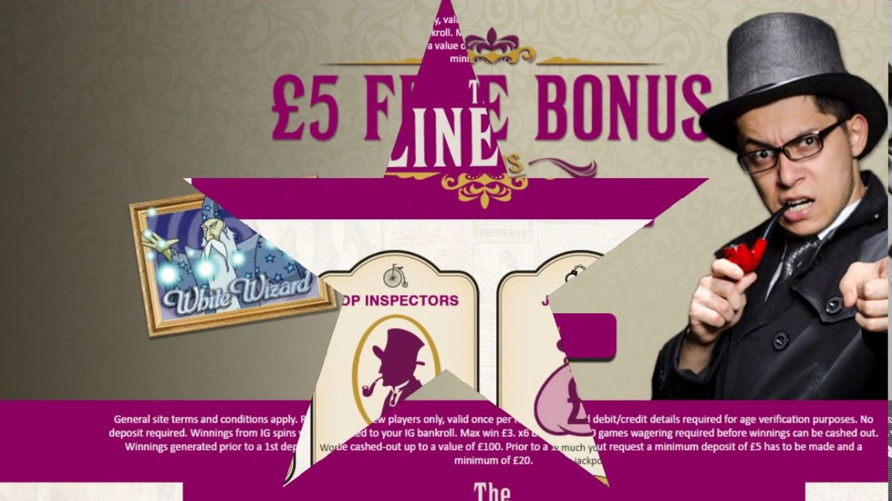19ba4221d88 Inspector Bingo Offers £5 and 10 Spins No Deposit Bonus plus 200% first  deposit bonus