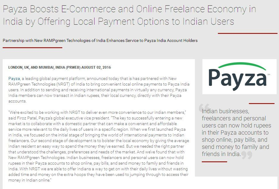 Payza Boosts E-Commerce and Online Freelance Economy in