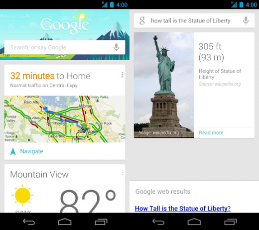 Google Now Expands To Include Gmail On Android Jelly Bean