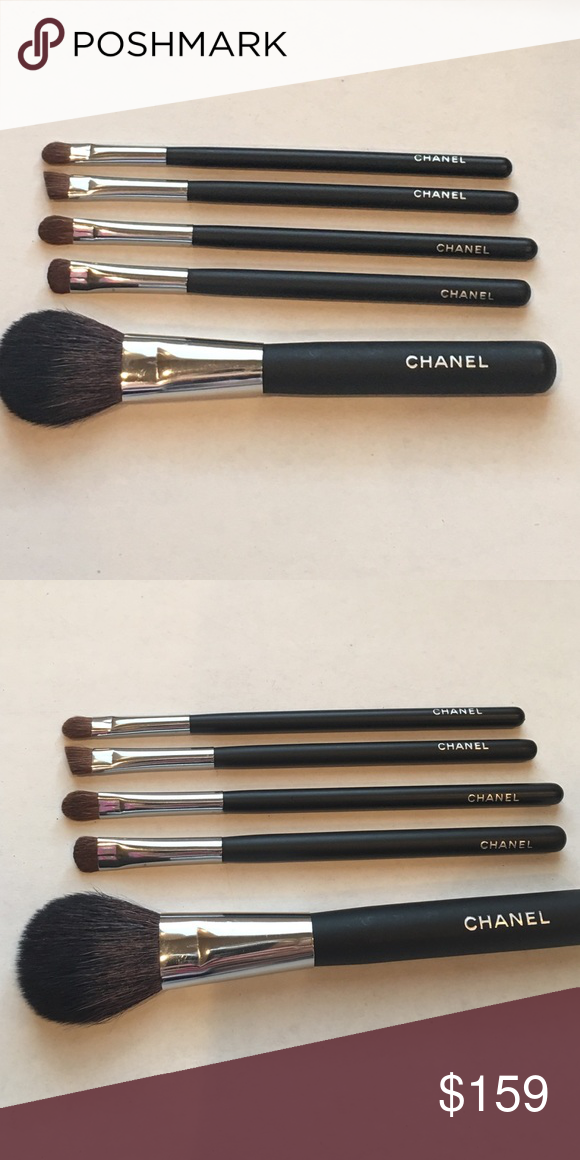 Authentic Chanel makeup brushes New never used made from