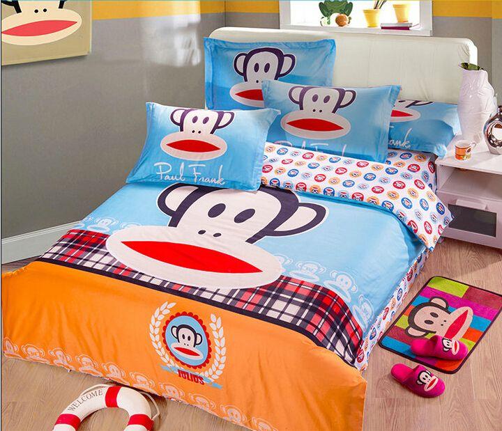 2014 Best Kids Cotton Bedding Sets 4pcs Cartoon Bedding Set Cotton