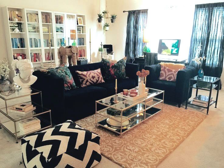 Jennifer Addesso S Living Room 2015 Blue Velvet Sofa