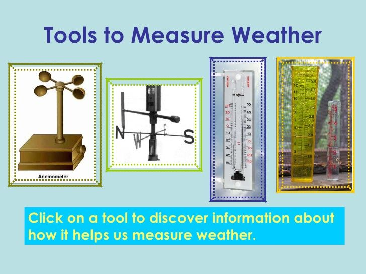 Weather Tools Weather Tools 5th Grade Science Weather Unit