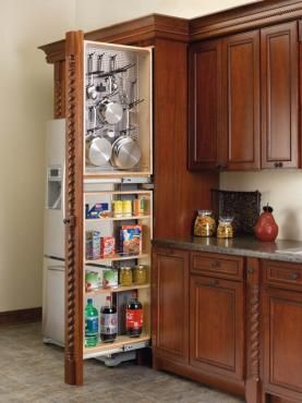 45 Tall Filler Pullout Organizer With Wood Adjustable Shelves Tall Pantry Accessories Use Two For 96 Tall Fillers Or One Combined With One 432 Tf39 6c For 90 Kitchen Design Kitchen Pantry Cabinets Interior