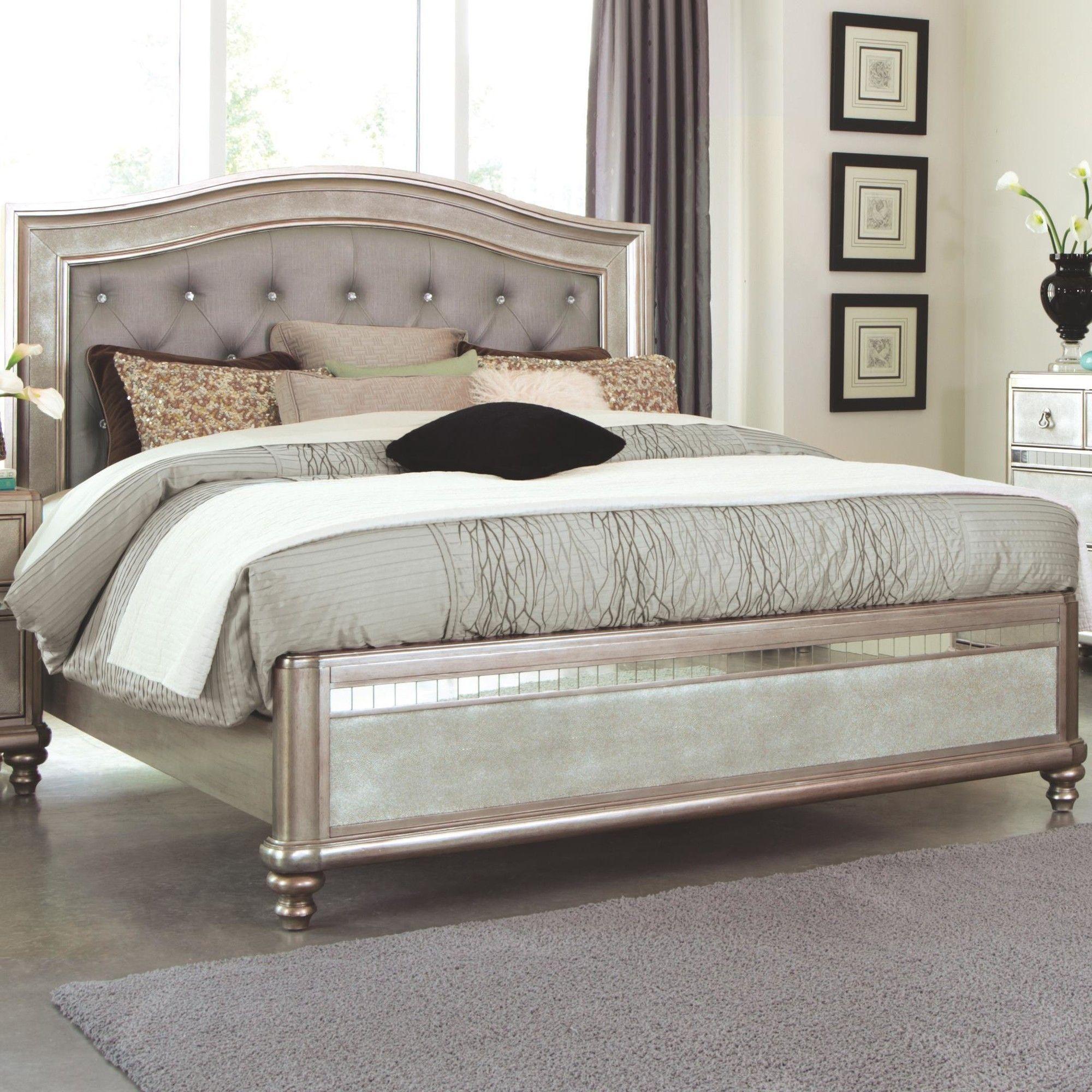 Bling Game Upholstered Platform Bed Bed furniture