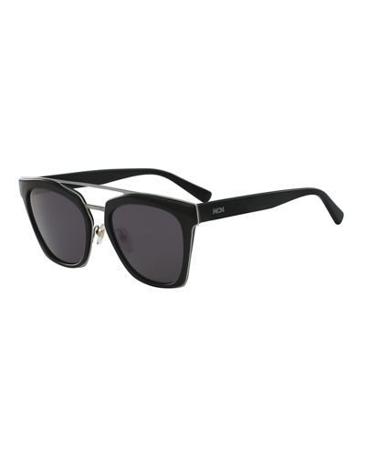df99376ae MCM Square Schoolboy Double-Bridge Sunglasses, Black. #mcm # | Mcm ...