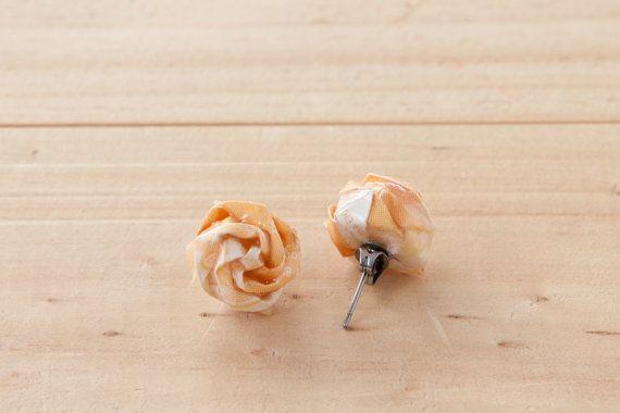 Origami Jewelry Rose Stud Earrings  by LittleRayOfSunflower