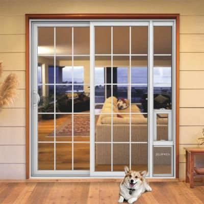 Jeld Wen 72 In X 80 In V2500 White Vinyl Prehung Left