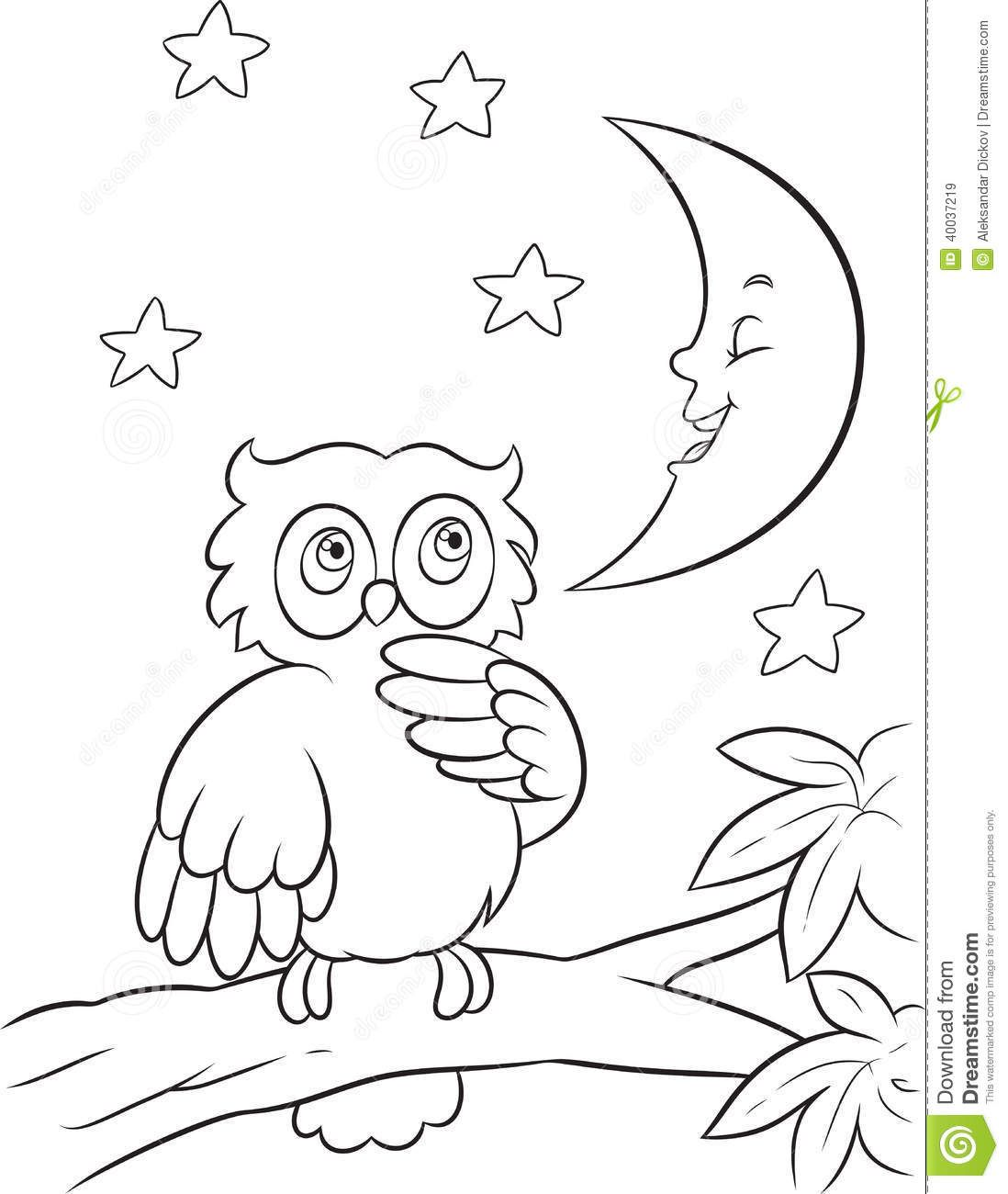 Baby Owl Cartoon Coloring Pages