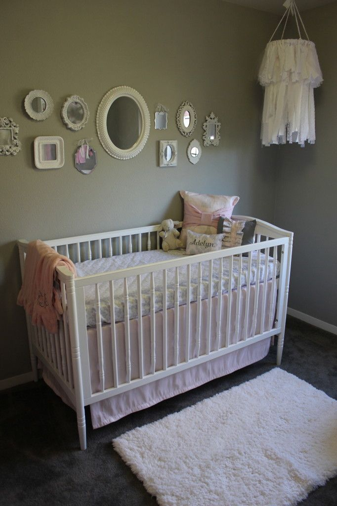 Best Pink And Gray Cottage Chic Nursery Pink Gray Nursery Baby Girl Nursery Decor Baby Nursery Decor 640 x 480
