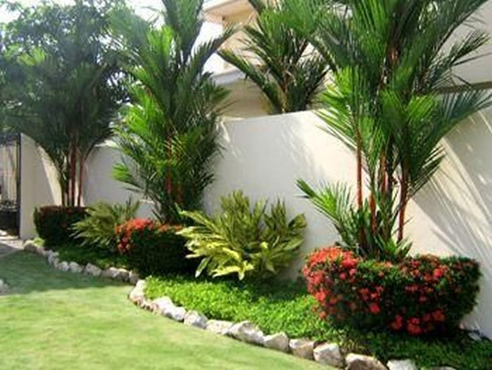 50 Florida Landscaping Ideas Front Yards Curb Appeal Palm Trees_37