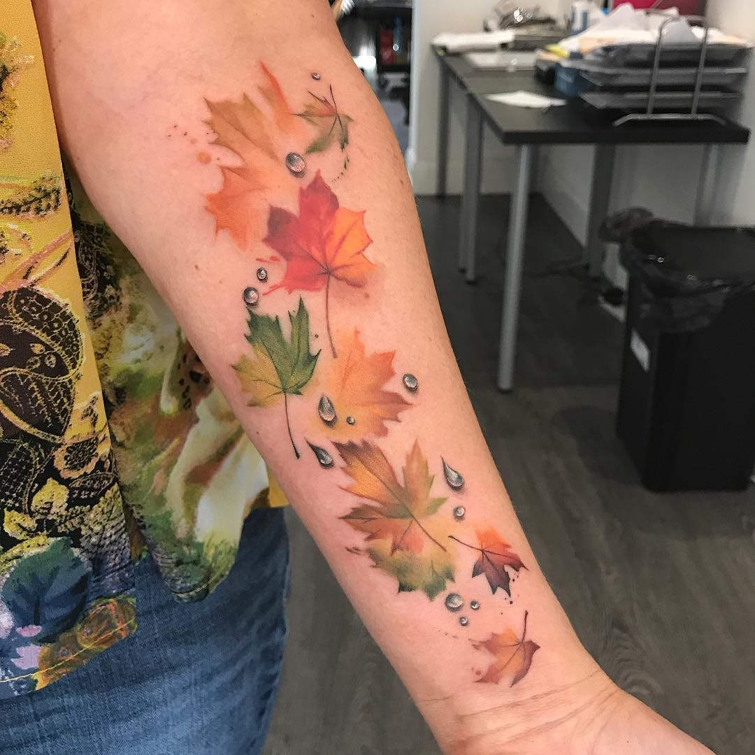 Jump Into A Pile Of Autumn Leaf Tattoos Staciemayer Com Fall