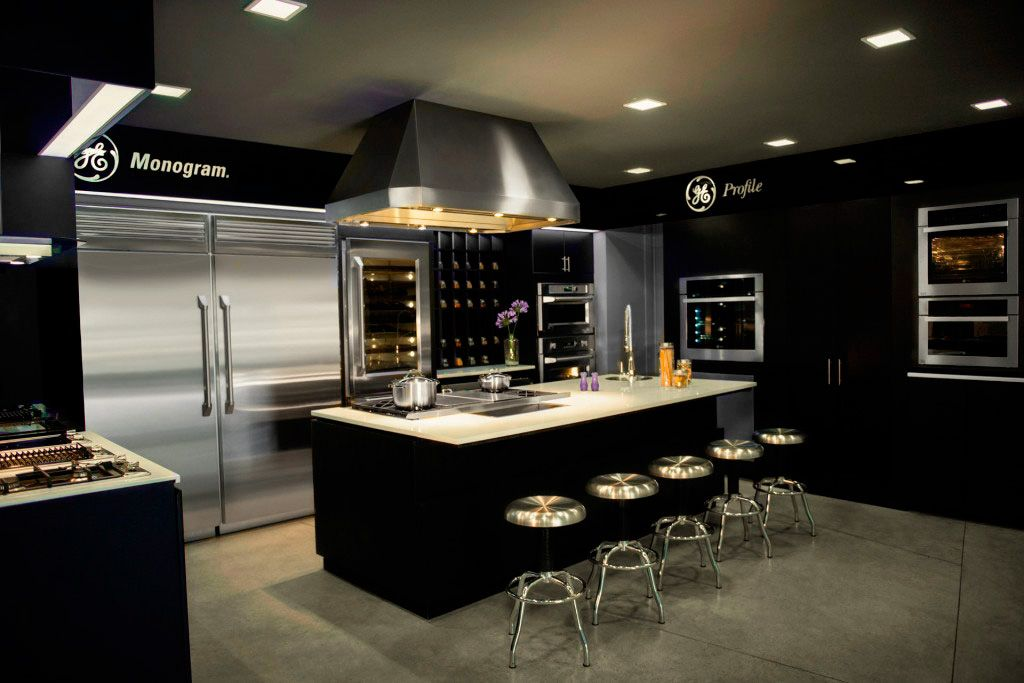 Pin de brenda higuera en mi new house pinterest lujoso for Cocinas integrales grandes