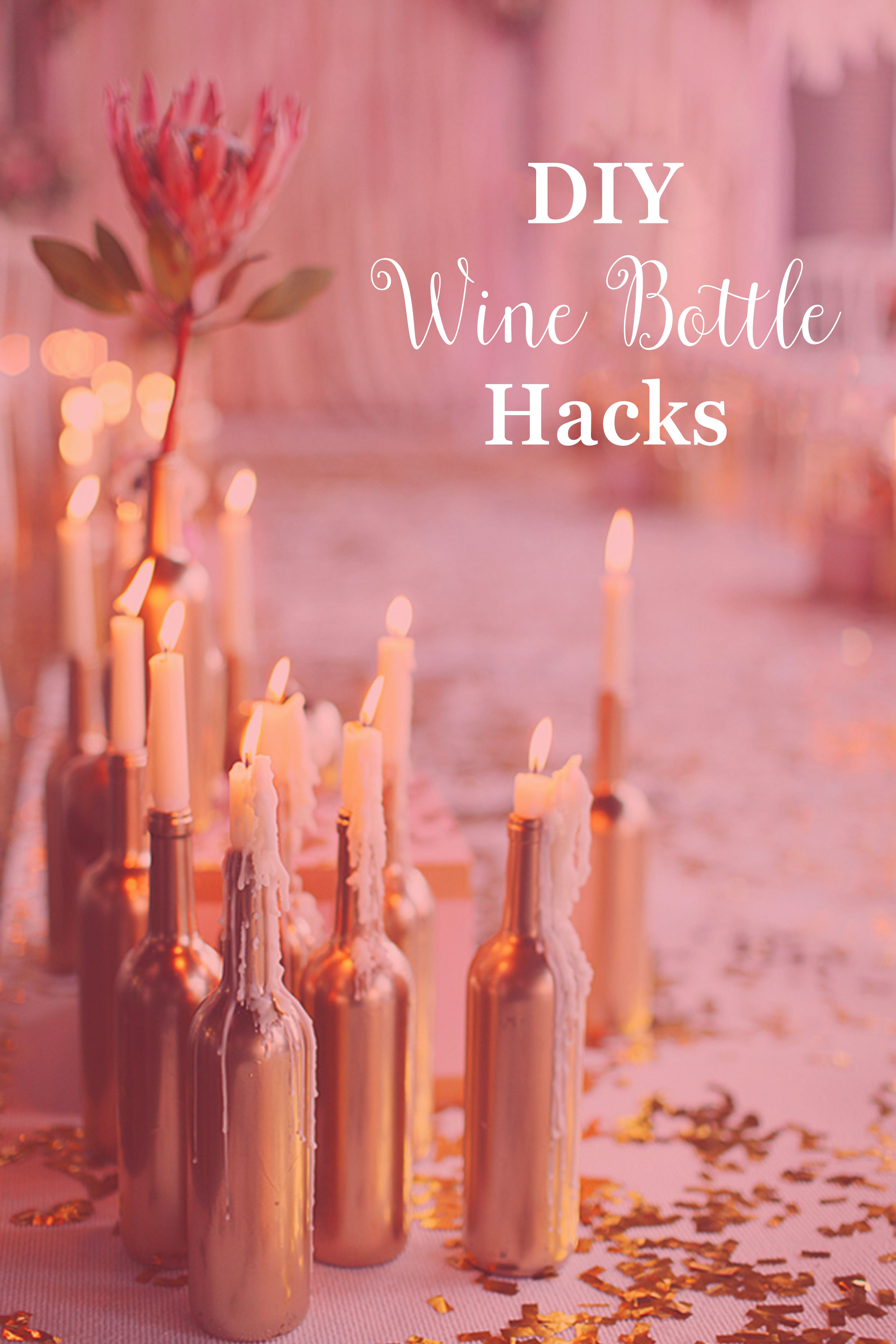 Do We Have Some Empty Wine Bottles Laying Around Um Yes We Definitely Do Check Out An Awesome H Wedding Candles Winter Engagement Party Wedding Decorations