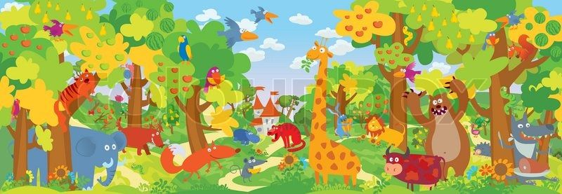 Children Illustration Backgrounds Zoo Google Search