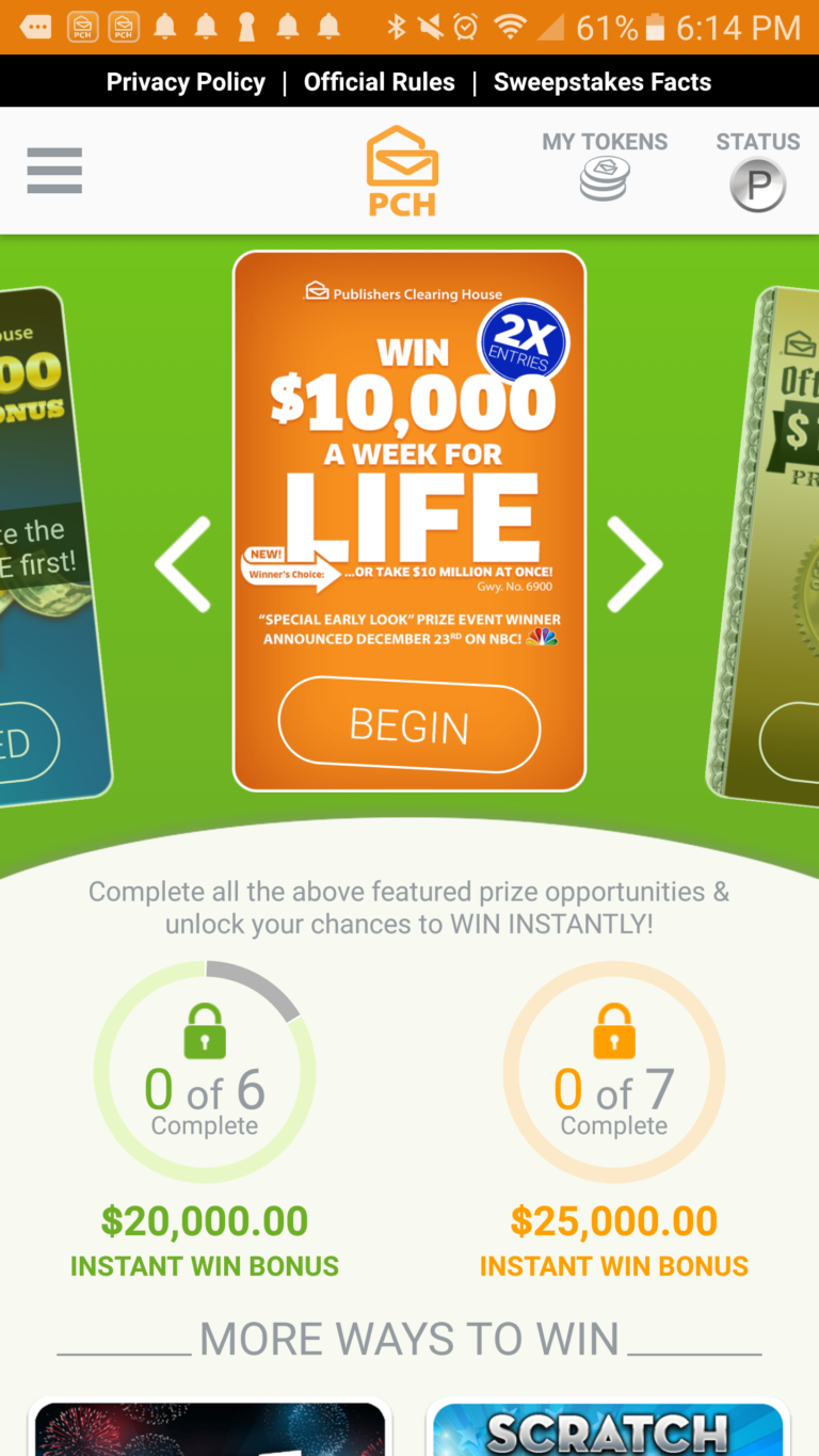 _thepchappentries Sweepstakes, Sweepstakes winner, Pch