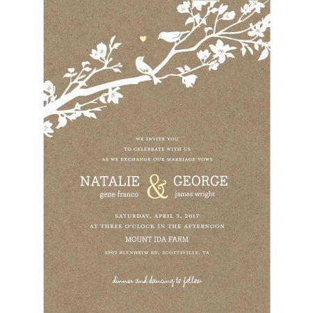 Rustic Woodland Standard Wedding Invitation Walmart Com Wedding Invitations Discount Wedding Invitations Personalised Wedding Stationery
