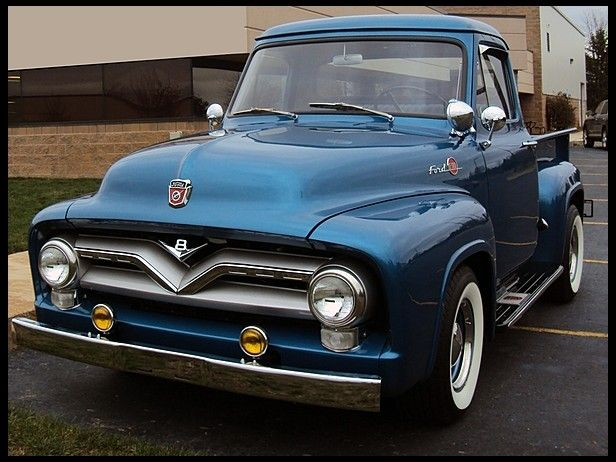 1955 Ford F100 Pickup For Sale By Mecum Auction Ford Pickup Trucks Classic Ford Trucks Classic Trucks