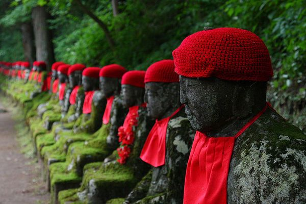 These Are Statues In Japan Called Jizou And They All Stand