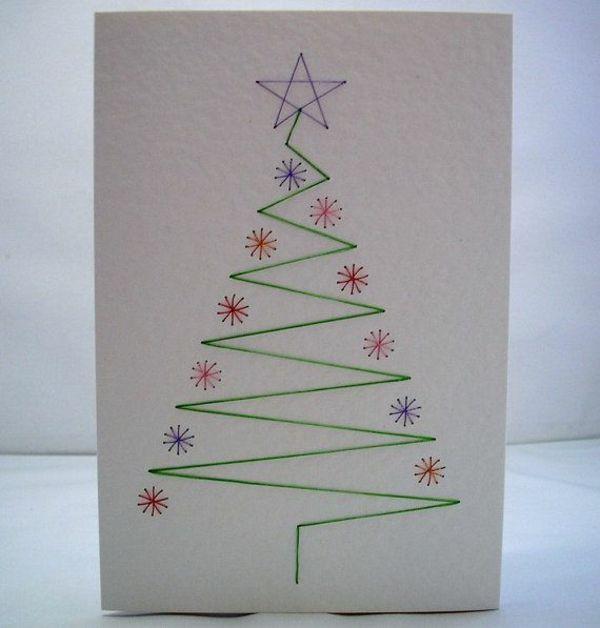 1001 sch ne weihnachtskarten selber basteln basteln. Black Bedroom Furniture Sets. Home Design Ideas