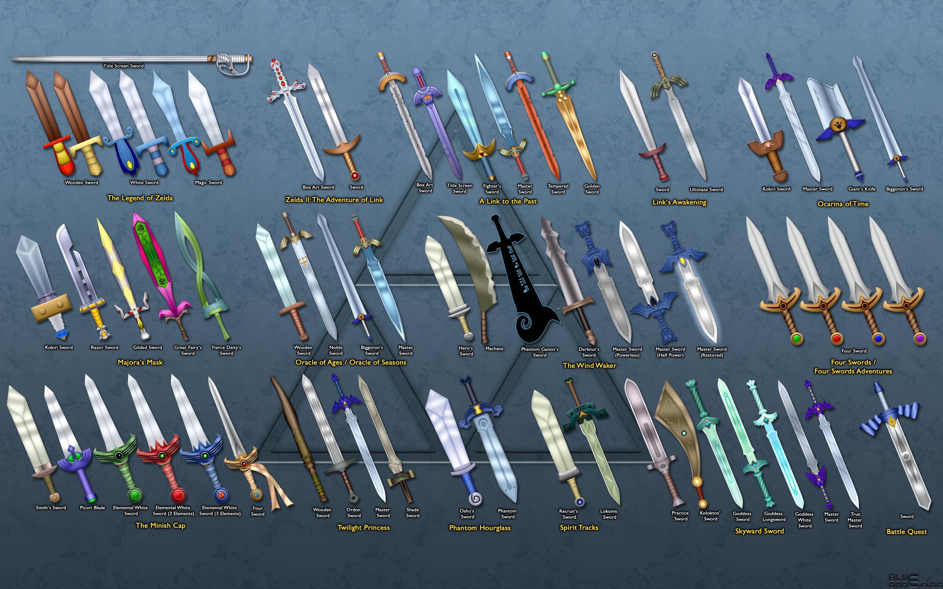 Legend Of Zelda Swords