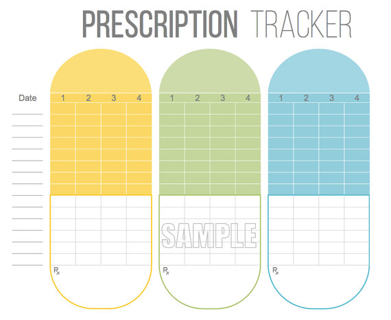 This Handy Prescription Tracker Has A Cute Capsule Themed Design And Lets You Take Note Of The Name Medication How Many Times Have