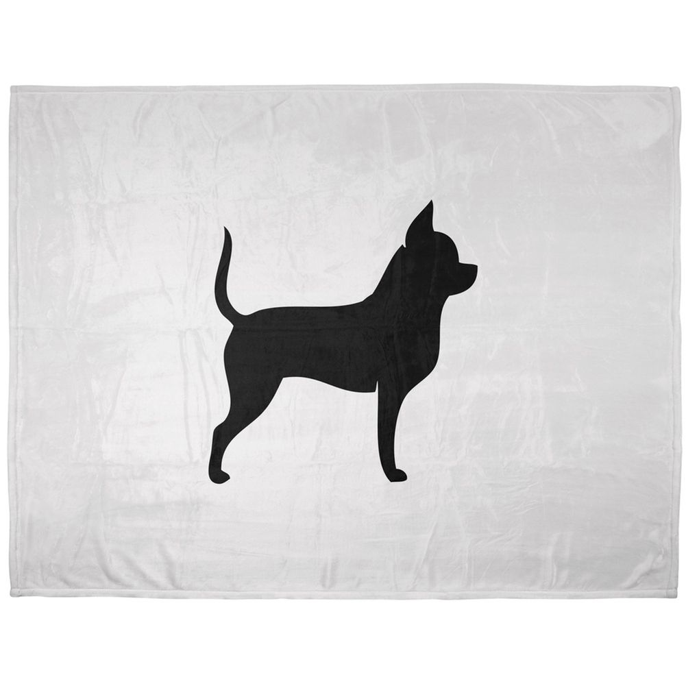 Chihuahua Silhouette Soft Plush Blanket | AnimalWorld.com