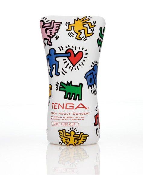 Nueva y preciosa edición limitada del clásico Soft Tube Cup de TENGA diseñado por el artista Keith Haring.